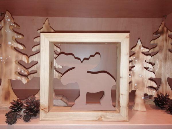 Weihnachtliche Figur für Dekorahmen